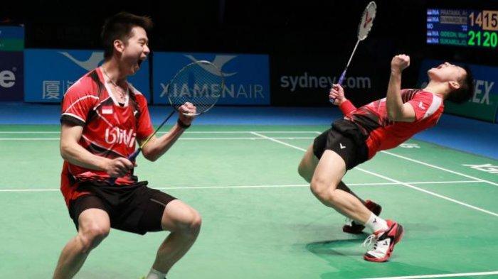 Hasil Lengkap Undian Indonesia Open 2019: Marcus Gideon/Kevin Sanjaya Jadi Unggulan Pertama