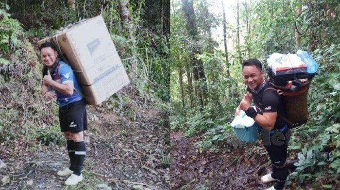 Demi Kebutuhan Siswanya, Guru Ini 7 Jam Jalan Kaki Gendong Kulkas Lewati Hutan di Daerah Terpencil