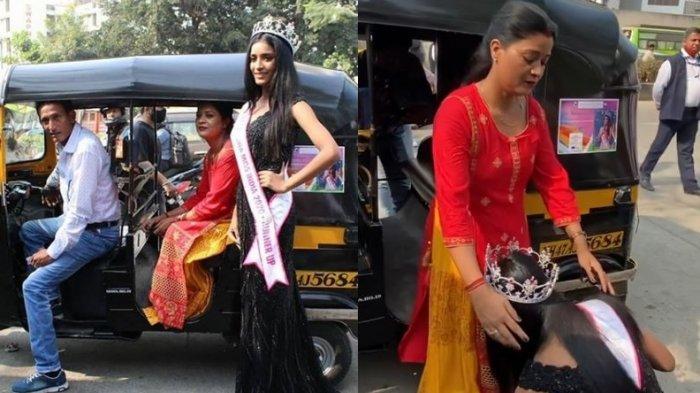 Kisah Manya Singh, Anak Sopir Bajai Jadi Putri India, Tak Malu Sujud Kaki Ibu dan Ayah di Depan Umum