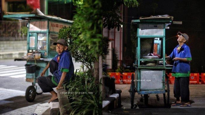 Viral Kakek Penjual Bakso Gerobak Asal Solo, Tetap Semangat Bekerja di Usia 86 Tahun