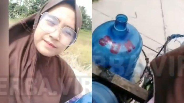 Viral Gadis Mengendarai Motor Penuh dengan Galon, Ternyata Bantu Orang Tua Jadi Pengantar Galon