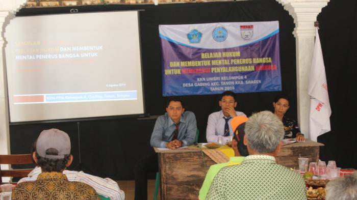KKN Unisri Surakarta Desa Gading Sragen Gelar Seminar Anti-Narkoba