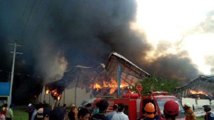 Pabrik Tekstil di Gondang, Sragen, Ini Terbakar Hebat, Kerugian Diperkirakan Rp 200 Miliar