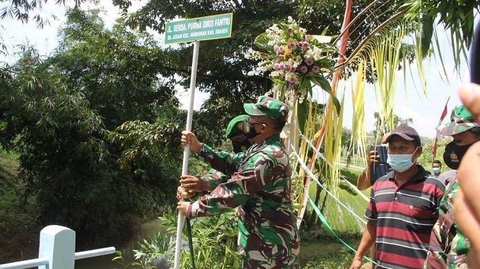 Ada Nama Jalan Serda Purna Idris Fantri di Lokasi TMMD yang Digelar TNI di Sragen, Begini Alasannya