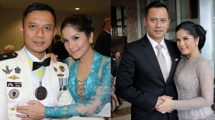 Kolase foto Agus Harimurti Yudhoyono dan Annisa Pohan