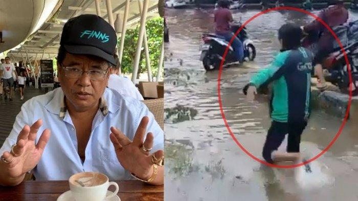 Miris Lihat Video Viral Driver Ojol Kecebur saat Banjir, Hotman Paris Beri Sindiran: Nasib Rakyatmu