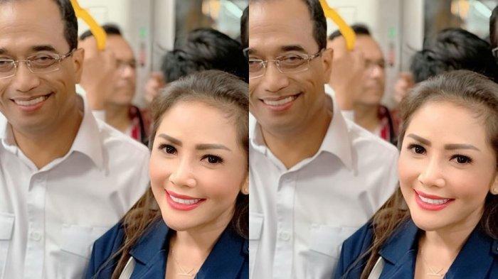 Sempat Foto Bareng Budi Karya Sumadi, Reaksi Pedangdut Kristina saat Dengar Menhub Positif Corona