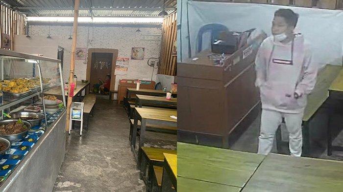 Aksi Maling di Warung Gudeg Laksmi UMS Terekam CCTV, Pelaku Pura-pura Beli Kopi, Ternyata Curi HP