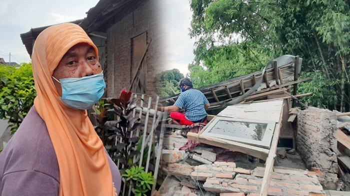 Keluarga Tukang Tambal Ban Sedih, Rumah yang Dihuni 23 Tahun Ambruk : Tak Punya Uang Renovasi