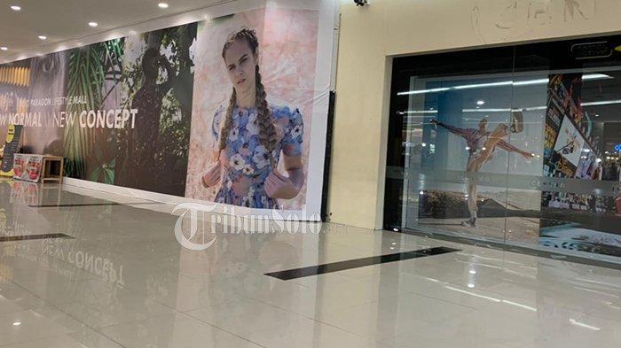 Kondisi Centro yang sudah tutup di Solo Paragon Mall di Jalan Yosodipuro No 133, Mangkubumen, Kecamatan Banjarsari, Kota Solo, Selasa (18/5/2021).