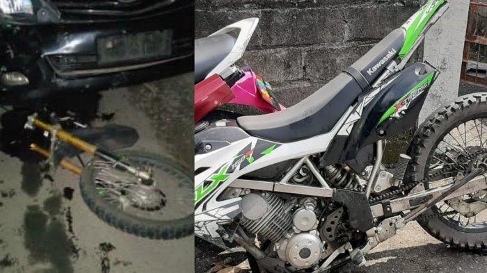 Mengerikan, Duel Kawasaki KLX vs Kijang Innova di Ceper Klaten, Motor Hancur Terbelah Jadi 2 Bagian