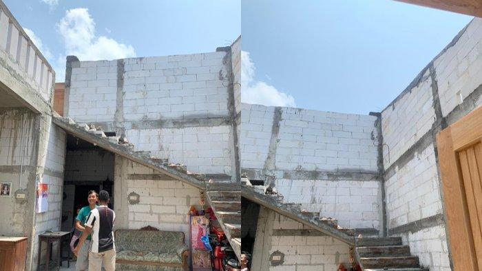 Ngeri! Angin Puting Beliung di Tuban Karanganyar, Atap Sampai Lepas, Warga tak Berani Keluar