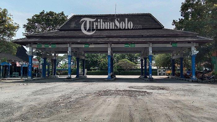 Imbas Larangan Mudik di Sragen, Kondisi Terminal Tipe B Pilangsari Kosong, Tak Ada Bus Keluar Masuk