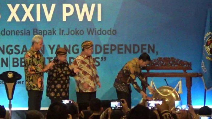 Buka Kongres PWI di Solo, Jokowi Dukung Media Pers Tekan Hoaks