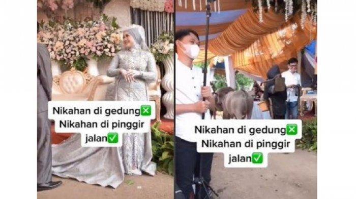 Viral Sesi Foto Pernikahan Terjeda Karena Kerbau Lewat Pelaminan, Begini Kisahnya
