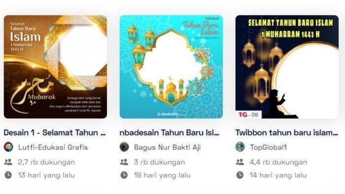 40 Kumpulan Link Twibbon Tahun Baru Islam 1 Muharram 1443 H, Lengkap dengan Cara Membuatnya
