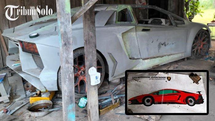 Modal Gambar dari Google, Pria Lulusan SMK asal Sragen Bikin Lamborghini Pakai Alat Seadanya