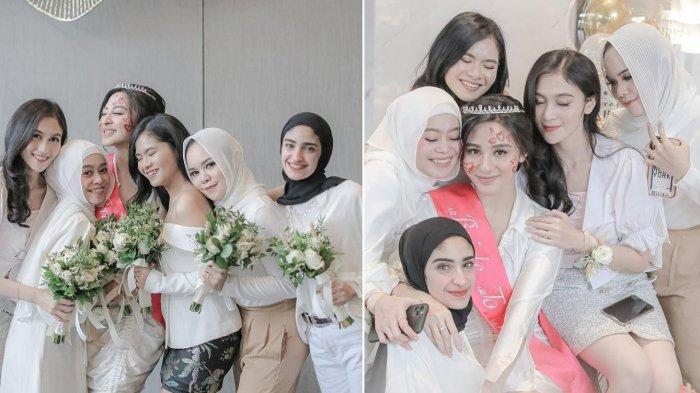 Lesty Kejora Tampil Cantik di Bridal Shower Margin Wieheerm, Kompak Bareng Salsha Anak Iis Dahlia