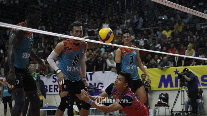 LINK LIVE STREAMING Proliga 2020 Seri Purwokerto Jakarta BNI 46 vs SBS, Laga Sedang Berlangsung