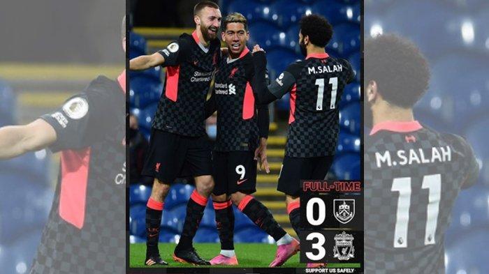 Liverpool Hantam Burnley 3-0, The Reds Akhirnya Tembus 4 Besar Lagi!