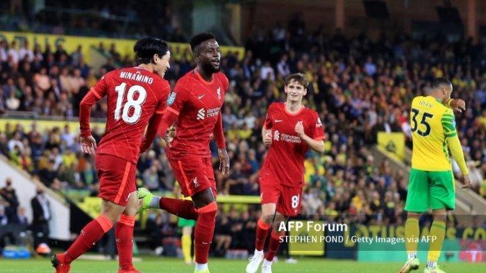 Turunkan Pemain Muda, Liverpool Libas Norwich City dengan Skor 0-3, Minamino Jadi Pahlawan