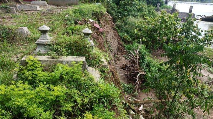 11 Makam di TPU Bendungan Klodran Terancam Longsor, Pemindahan Terkendala Biaya dan Identitas