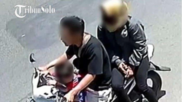 Viral Netizen Tuding Pasutri Bawa Anak Curi Motor di Pasar Kliwon, Ternyata Ini Fakta Sebenarnya