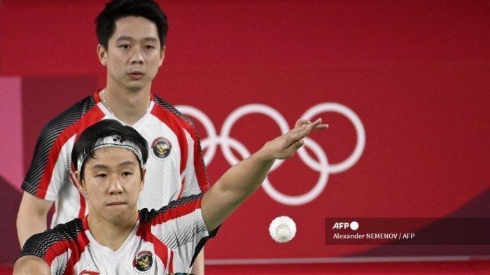 Hasil Badminton Olimpiade 2020: Marcus/Kevin Menang, The Minions Sempat Imbang di Tengah Set Pertama