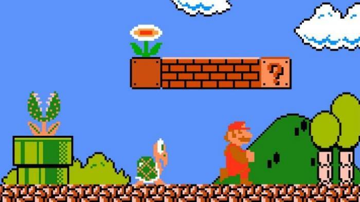 Tokoh Mario dalam game Super Mario Bros.