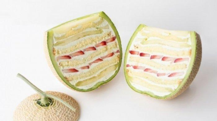 Unik! Koki Jepang Ini Ciptakan Cake di Dalam Buah Buahan