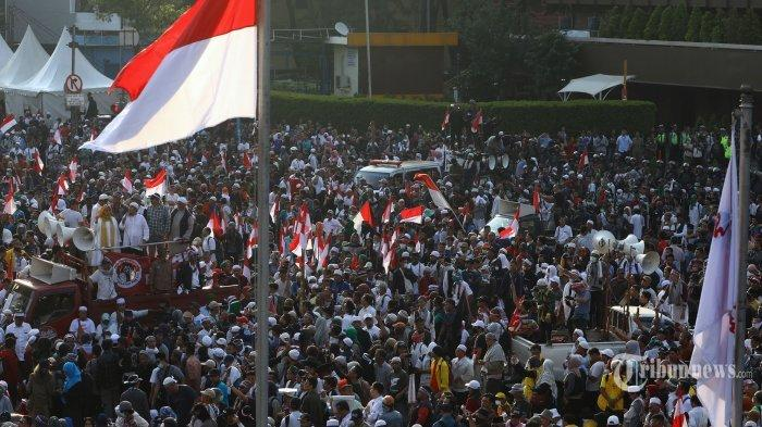 Para Demonstran di Depan Bawaslu Bubarkan Diri dengan Tertib, Jalan MH Thamrin Mulai Dibuka