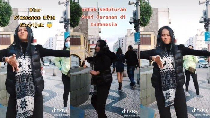 Viral Wanita Menari Jaranan di Jalanan Kota Macau, Ternyata Begini Kisah di Baliknya
