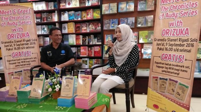 Gramedia Solo Gelar Meet and Greet dengan Orizuka, Penulis Buku The Chronicles of Audy Series