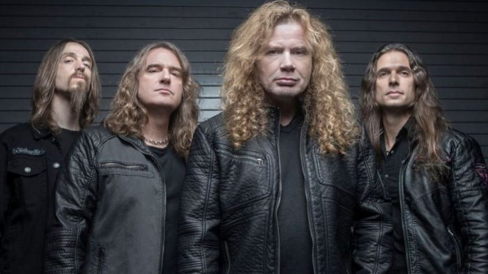 Seusai Manggung di Yogyakarta, Megadeth Lelang 2 Gitar untuk Bantu Korban Gempa Sulteng