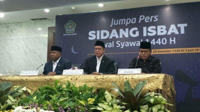 Pemerintah Tetapkan 1 Syawal 1440 H Jatuh Pada Hari Rabu 5 Juni 2019