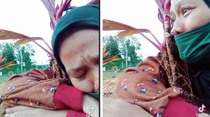 Viral Video Anak Meratap di Makam Ibu, Awalnya Dikritik, Netizen Mendadak Iba Tahu Kisah Sebenarnya