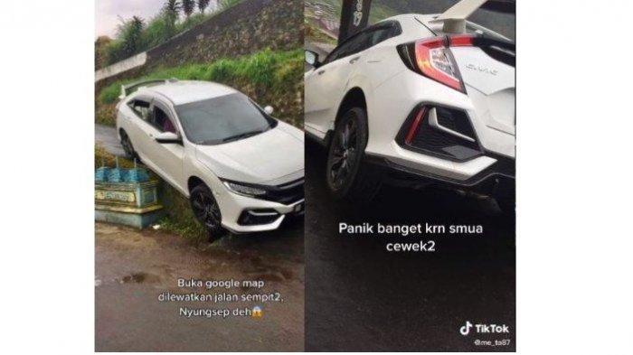 Viral Video Mobil Nyungsep di Jalan Sempit, Ternyata Begini Kejadian Sebenarnya