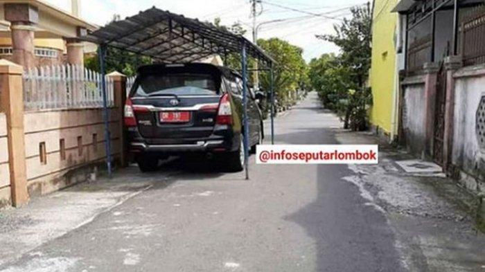 Kesaksian Pemotret Mobil PNS Ditutup Kanopi Setengah Badan Jalan:Dikira Sementara, Ternyata Permanen