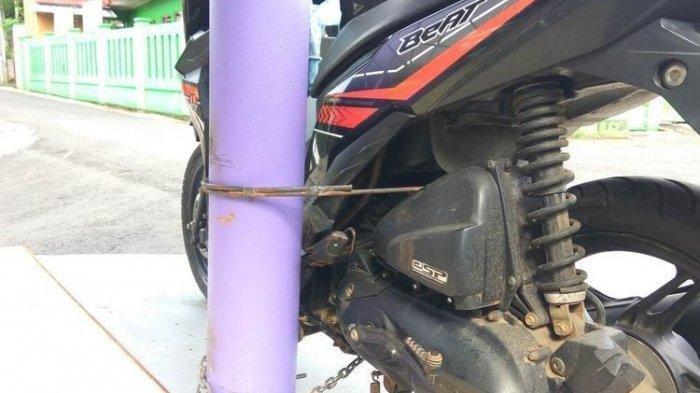 Cerita di Balik Motor Honda Beat Dilas ke Tiang Listrik, Ternyata Milik Maling yang Gagal Mencuri
