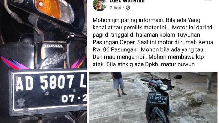 Honda Astrea Ditinggal Pemiliknya di Klaten, Diviralkan Tak Ada yang Mengakui,Kini Diserahkan Polisi