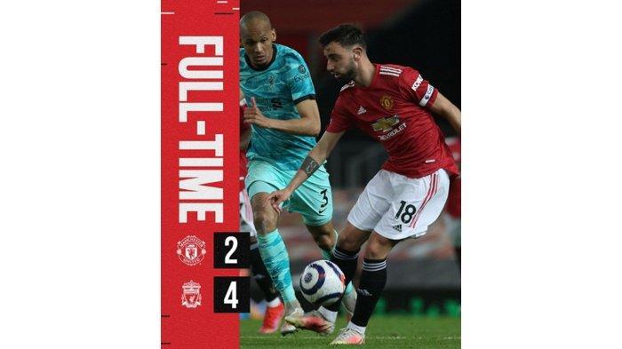 Hasil Liga Inggris Liverpool Hajar MU 4-2 : Semangat Reds, Tiket Champions Makin Dekat!