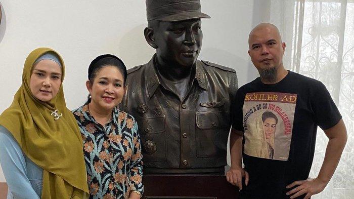Usai Bertemu Cak Nun, Ahmad Dhani Ajak Istrinya ke Jogja Bertemu Titiek Soeharto dan Patung Soeharto