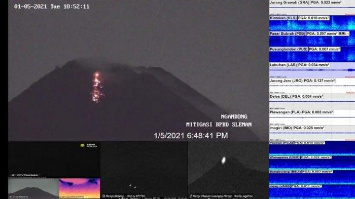 Gunung Merapi Muntahkan Lava Pijar Dua Kali, Arah ke Barat, Ini Kesaksian Warga Sidorejo Klaten