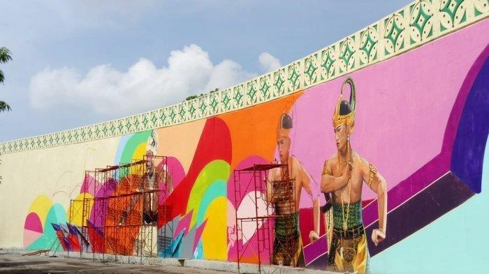 Mural di Overpass Manahan Solo, Jumat (7/12/2018).