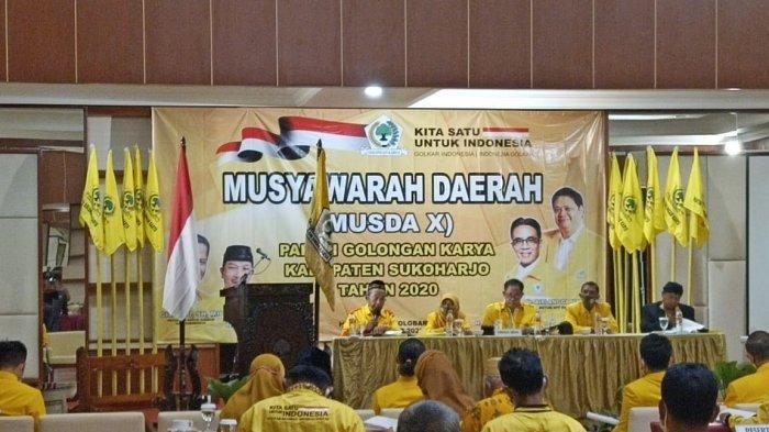 Hasil Musda X DPD Partai Golkar Sukoharjo, Sarjono Terpilih Secara Aklamasi, Gantikan Giyarto