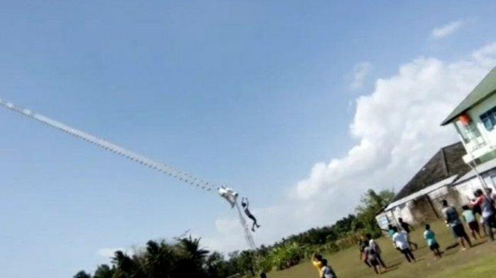Viral Video Seorang Remaja Sempat Terbang Terbawa Layangan Raksasa Setinggi 3 Meter Sebelum Terjatuh