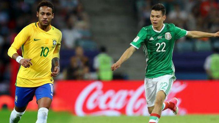 Analisis Pertandingan dan Jadwal Piala Dunia 2018: Brasil vs Meksiko, Pembuktian Neymar