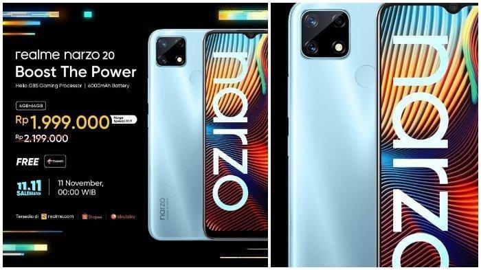 Harga HP Realme Narzo 20 Terbaru November 2020, Dibekali Baterai 6000 mAh dan Dijual Mulai Rp 2 Juta