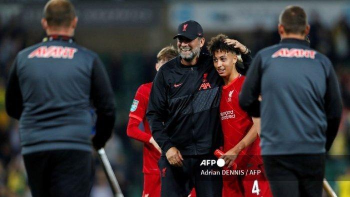 Norwich City vs Liverpool, Kaide Gordon Debut di Usia 16 Tahun, Jurgen Klopp Beri Tanggapan Menarik