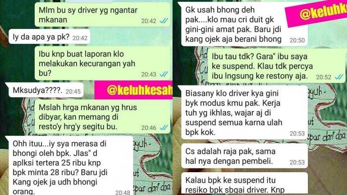Driver Ojol Kena Suspend usai Dilaporkan Pelanggan yang Sebut Dirinya Raja, Begini Obrolan Mereka